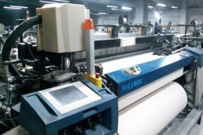 Picanol looms weaving weft insertion