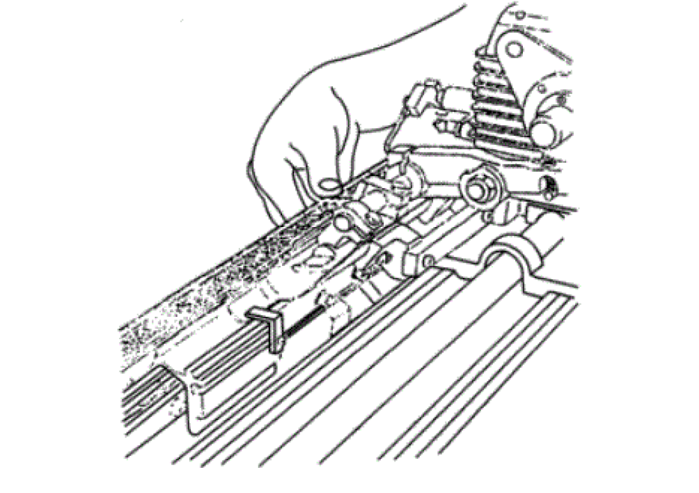 Fig.6 Adjustment of tuck-in device